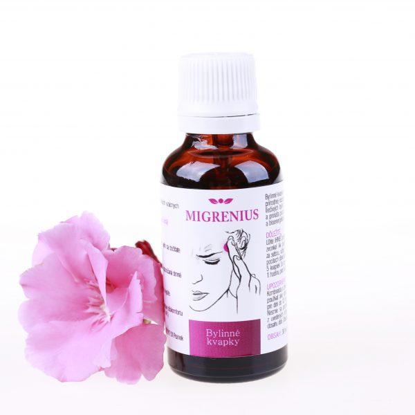 MIGRENIUS bylinné prírodné kvapky migréna a bolesti hlavy