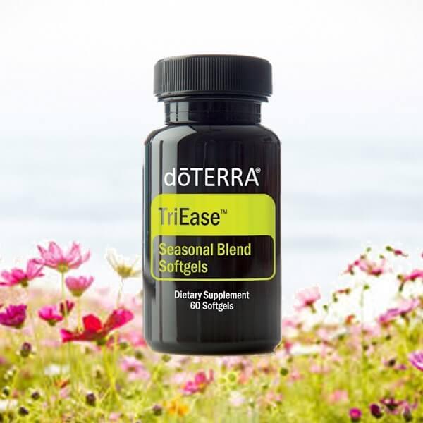 TriEase kapsule doterra esencialne oleje alergie senna nadcha