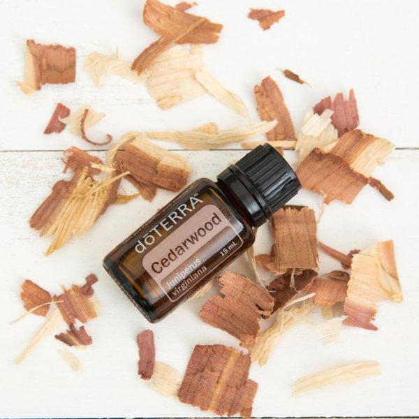 cedarwood esenciálny éterický olej doterra upokojenie