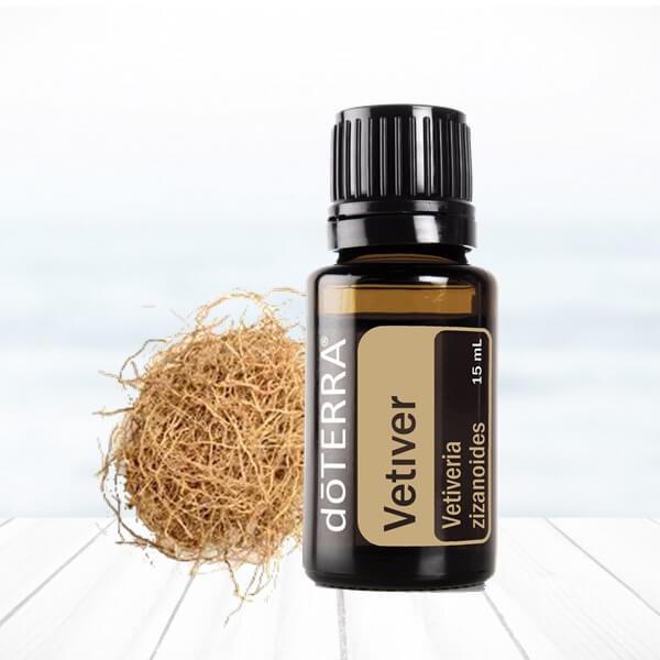 vetiver esenciálny olej doterra proti stresu prírodné sedatívum