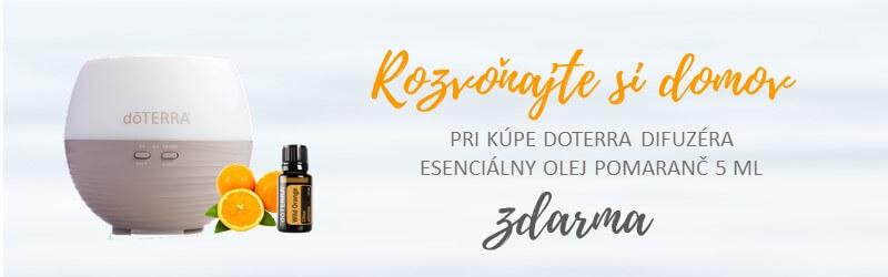 difuzer doterra petal esencialne oleje