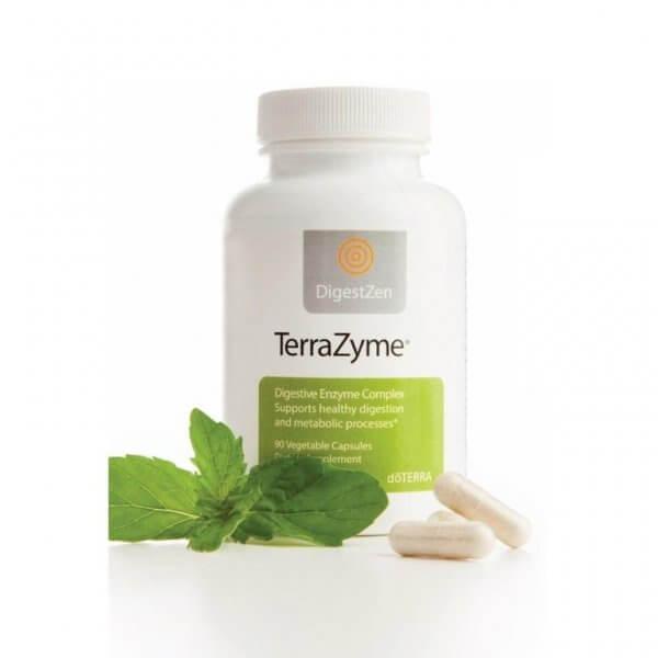 TerraZyme Doterra kapsule komplex enzýmov tráviace ťažkosti intolerancie na jedlo intolerancie na potraviny